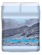 Ben Nevis Happy New Year Greeting Duvet Cover