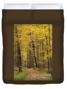 Bench In Fall Color Duvet Cover