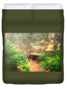 Bench - Privacy  Duvet Cover by Mike Savad