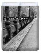 Bench Row Black And White Duvet Cover