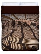 Benches At Meteor Crater In Arizona Duvet Cover