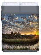 Bend In The Bayou Sunrise Duvet Cover