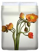 Bendy Poppies Duvet Cover by Norman Hollands