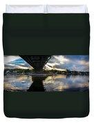 Beneath The New Hope - Lambertville Bridge Duvet Cover