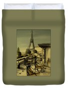 Beneath The Tower   Number 2 Duvet Cover by Diane Strain