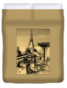 Beneath The Tower   Number 6 Duvet Cover by Diane Strain