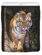 Bengal Tiger By Tree Endangered Species Wildlife Rescue Duvet Cover