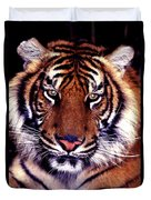 Bengal Tiger Eye To Eye Duvet Cover