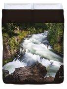 Benham Falls - Oregon Duvet Cover