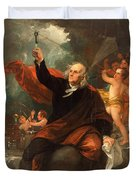 Benjamin Franklin Drawing Electricity From The Sky Duvet Cover