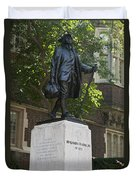 Benjamin Franklin Statue University Of Pennsylvania Duvet Cover