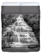 Benton Falls In Black And White Duvet Cover