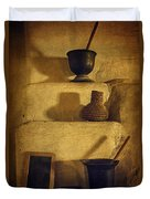Bent's Old Fort Kitchen Fireplace Duvet Cover