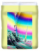Benzoic Acid Microcrystals Coloful Abstract Art Duvet Cover