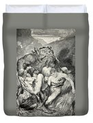 Beowulf Print Duvet Cover by John Henry Frederick Bacon