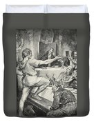 Beowulf Replies Haughtily To Hunferth Duvet Cover