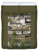 Berat Old Town In Albania Duvet Cover