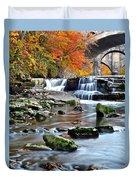 Berea Falls Ohio Duvet Cover