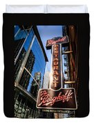 Berghoff Restaurant Sign In Downtown Chicago Duvet Cover