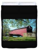 Berks Courty Pa - Griesemer's Covered Bridge Duvet Cover