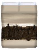 Berkshires Winter 1 - Massachusetts Duvet Cover