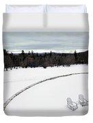 Berkshires Winter 2 - Massachusetts Duvet Cover