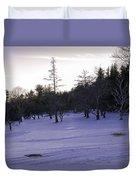 Berkshires Winter 5 - Massachusetts Duvet Cover