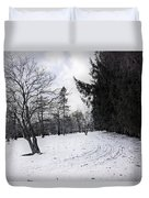 Berkshires Winter 9 - Massachusetts Duvet Cover by Madeline Ellis