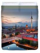 Berlin Germany Major Landmarks At Sunset Duvet Cover