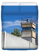 Berlin Wall Memorial A Watchtower In The Inner Area Duvet Cover