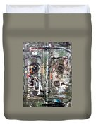 Berlin Walls-green Doors Duvet Cover