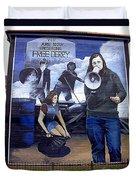 Bernadette Devlin Mural Duvet Cover