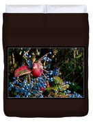 Berries And Red Leaves After The Rain Duvet Cover