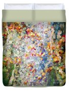 Berries Around The Tree - Abstract Art Duvet Cover