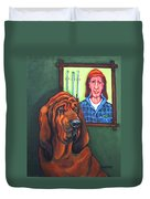 Bloodhound - Bervil And Blue Duvet Cover
