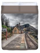 Berwyn Railway Station Duvet Cover