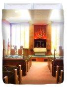 Beth El Jacob Temple In Des Moines Duvet Cover