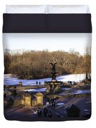 Bethesda Fountain 2013 - Central Park - Nyc Duvet Cover by Madeline Ellis