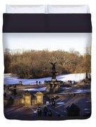 Bethesda Fountain 2013 - Central Park - Nyc Duvet Cover