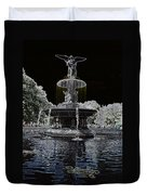 Bethesda Fountain Abstract Duvet Cover