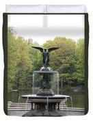 Bethesda Fountain Central Park Nyc Duvet Cover