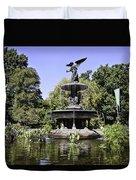 Bethesda Fountain Iv - Central Park Duvet Cover