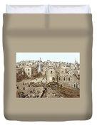 Bethlehem Manger Square 1900 Duvet Cover
