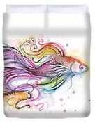 Betta Fish Watercolor Duvet Cover