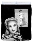 Betty Grable Duvet Cover by Peter Piatt