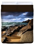 Between Rocks And Water Duvet Cover