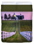 Between The Fences Duvet Cover