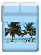 Between The Palms Duvet Cover