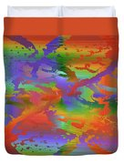 Beyond The Albatross Rainbow Duvet Cover