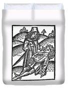 Bezoar Stone, 1491 Duvet Cover